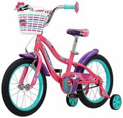 """16"""" Little Girl's Bike with Training Wheels And Basket 4 5 6"""