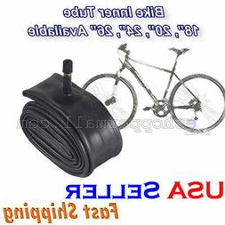"24"" Bike Tube Bicycle Tire Inner Interior 24 x 1.6 - 1.95 Sc"
