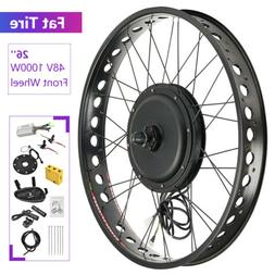 """48V 1000W 26"""" Fat Tire Front Wheel Electric Bicycle E-bike K"""