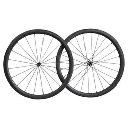 700C Carbon Road Bike Wheelset 40mm Clincher Tubeless Ready