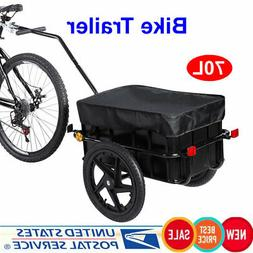 70L Cargo Bike Trailer for Foldable Safety Outdoor Ride Bicy