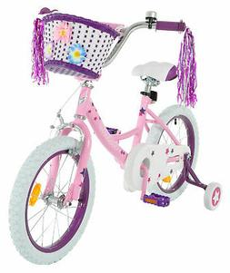 Vilano Girl's 16 Inch Bike with Training Wheels and Basket