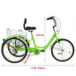 adult tricycle 24 7 speed 3 wheel