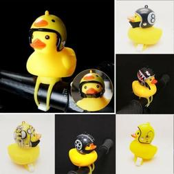 Bicycle horn bell LED light Little Yellow Duck Wearing Helme