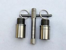 """Bicycle Stainless Steel  Pedal Extender. 9/16"""" Thread 20mm,"""