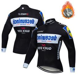 Bicycle Team Mens Long Sleeve Cycling Jersey Jacket Thermal