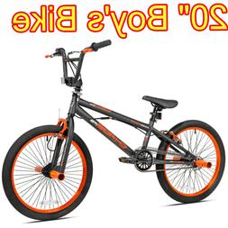 Boys BMX Bicycle 20 in Wheels Steel Frame Bike Ride For Comf