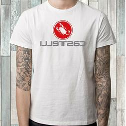 Castelli Bicycle Company Logo Men's White T-Shirt Size S M L