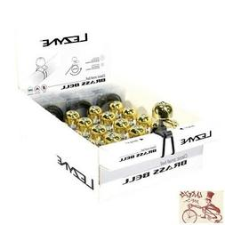 LEZYNE CLASSIC BRASS MEDIUM BLACK MOUNT BICYCLE BELL--BOX OF