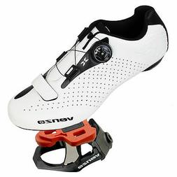 Venzo Cycling Bicycle Road Bike Shoes With Look Keo Pedals A
