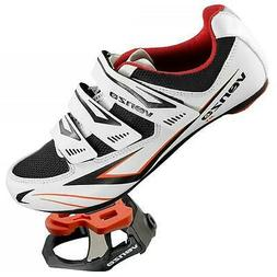 Venzo Cycling Bicycle Road Bike Shoes with Pedals & Cleats W