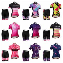 JPOJPO Cycling Jersey Women Bicycle Clothing Sets Short T-Sh