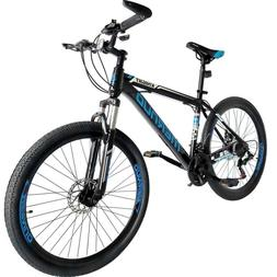 "Mountain Bike 26"" Front Suspension Bicycle 21 Speed MTB Mens"