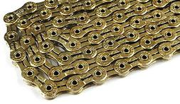 """GOLD YBN 9 Speed Bicycle Chain 1/2""""x11/128"""" 116L Fit Shimano"""