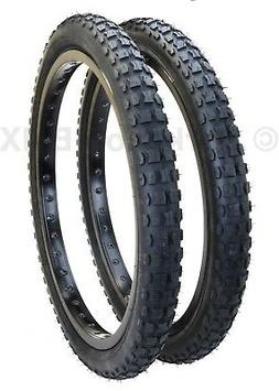 "Kenda K44 KNOBBY dirt old school BMX bicycle tires 20"" X 2.1"