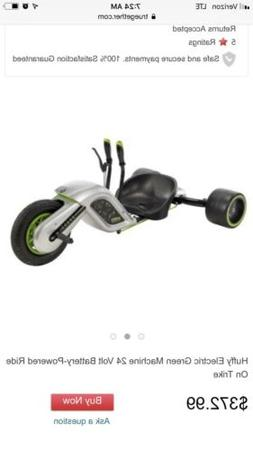 Kids Electric 3-Wheel Huffy Green Machine Outdoor Battery Po