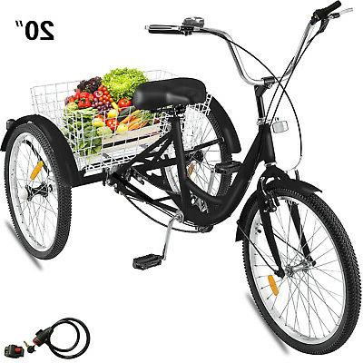 20 adult tricycle 3 wheel 1speed bicycle