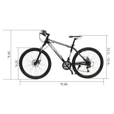 21 Speed Front Mountain Bicycle Cycling Disc