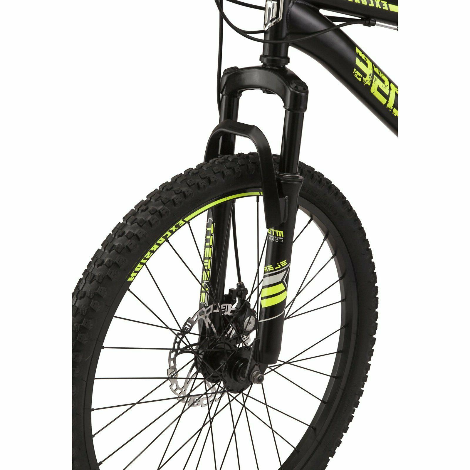 Mongoose Excursion Bike 24 Wheel 21 in Black and