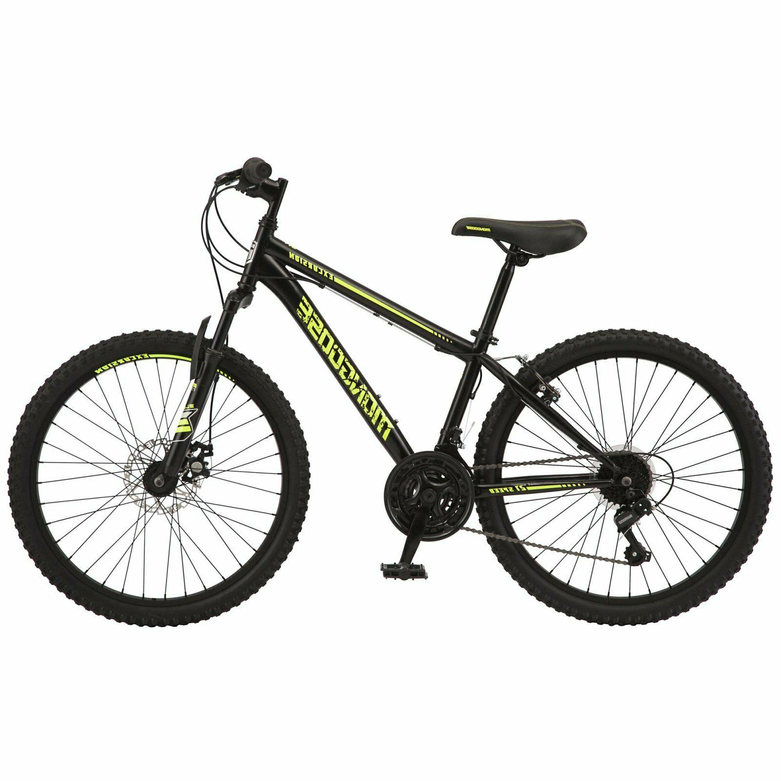 Mongoose Excursion Boys Mountain Bike 24 21 Speed in and Yellow
