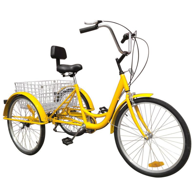 "Shimano 24"" 3-Wheel Tricycle Trike Bicycle Bike Cruise With"