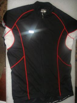 MENS LOUIS GARNEAU LG CYCLING BICYCLE JERSEY BLACK WHITE MEN