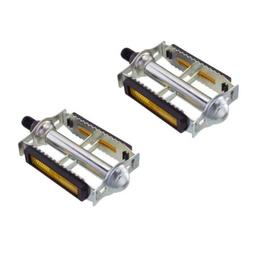 """NEW 616 Steel Bicycle Pedals 1/2"""" Chrome Rat Trap Old BMX MT"""