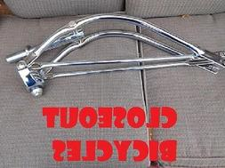 """New! Bicycle Bike 26"""" Bent Spring Fork 1"""" Chrome Lowrider Cr"""