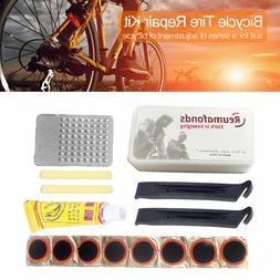 New Bike Bicycle Flat Tire Tyre Repair Tool Kit Rubber Patch
