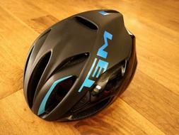 NEW MET Rivale Road Bike Cycling Aero Helmet - Black Blue Me