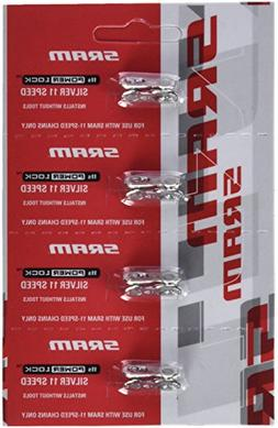 SRAM PowerLock Chain Connector 11-speed, Silver, Pack of 4
