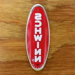 SCHWINN BICYCLE HEAD BADGE FIT STINGRAY & OTHERS NOS