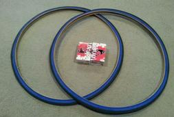 TWO DURO 700x25C BICYCLE TIRES BLUE WALL & 2 TUBES, ROAD FIX