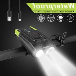 USB Rechargeable LED Bicycle Headlight Bike Head Light Front